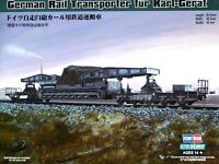 Hobbyboss 1:72 German Rail Transporter For KARL-Gerat SPG Model Kit