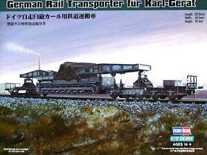 Hobbyboss 1:72 German Rail Transporter For KARL-Gerat SPG Model Kit