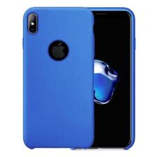 Blue Silicone/Gel/Rubber Cases & Covers for iPhone X