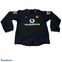Vintage NIKE Manchester United 2003/2005 Long Sleeve Away Jersey Men's Medium