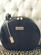 LANCOME Black Round Med - Large Beauty Makeup Cosmetic Bag Train Case HiddenJuel