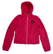 NWT Hollister Womens Size Small Windbreaker Nylon Jacket Hot Pink