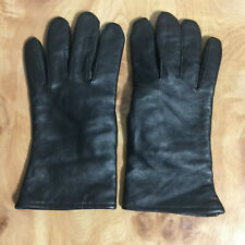 EUC-VINTAGE ILLINOIS GLOVE CO. LEATHER WINTER GLOVES WOOL LINED-MENS SZ 7