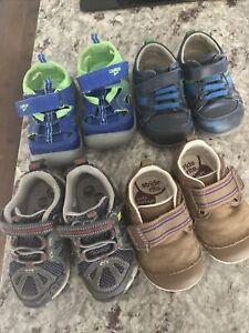 oshkosh, Stride Rite, FlexaRound. Lot Of 4. Shoes For Babies Size 4.5