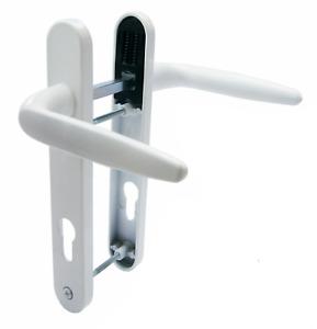 Trojan sparta white upvc door handles 212mm backplate 122mm screw centres pz92mm