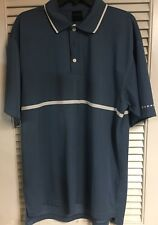 Dunning Golf Polo Mens X-Large Xl Light Blue White Accent Stripes