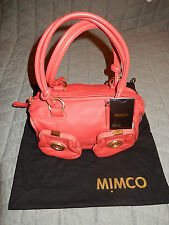 Mimco mini metal button leather bag BNWT $399