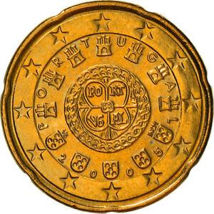 [#382009] Portugal, 20 Euro Cent, 2005, Lisbonne, SUP+, Laiton, KM:744