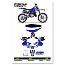 1993-1995 YAMAHA YZ 125 250 Graphics Kit  Seat Cover Motocross Graphics Enjoy