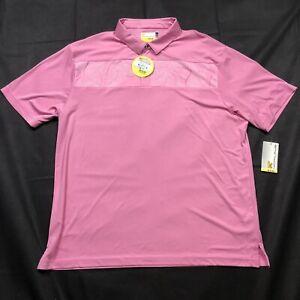 Nicklaus Men's Size 2XL Pink Eco Choice Hawaiian Pattern Golf Polo Shirt NWT