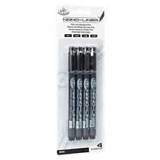 Royal & Langnickel Nano-Liner arte fina línea de plumas de dibujo Paquete de 4-Negro