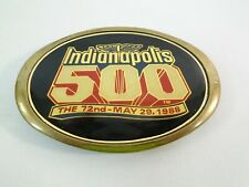 1988 Indianapolis 500 Event Collector Brass Belt Buckle Rick Mears Penske Racing