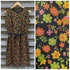 Vtg 60s Day Dress Wiggle Sundress Flower Power 1960s Union Made