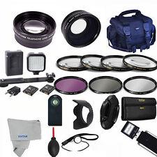 Professional LED / Lens / Accessory Kit for SONY ALPHA A5000 A5100 A6000 A6300