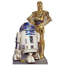 Star Wars R2-D2 C-3PO Cardboard Cut Out Standup Life Size Poster 6 ft. Stand-Up