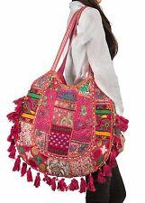 Pink Summer Beach Large Shoulder Bag Tassel Cute Picnic Fashion Hippie Boho Tote