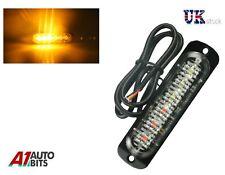 1x ámbar 6 LED coche camión de emergencia luz de faro luz estroboscópica Flash de peligro Advertencia De Barra