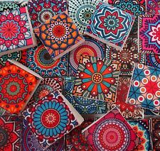 Ceramic Mosaic Tiles - Bright Colors Medallions Moroccan Tile Mosaic Tile Pieces