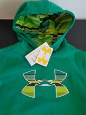 UNDER ARMOUR Cold Gear Girls BIG LOGO Hoodie NEW Large 1263465 Free Shipping