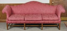 Kittinger Historic Newport Mahogany Chippendale Sofa Red Damask Fabric HN 11-1