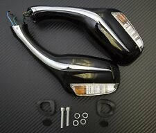 8mm Electric Rearview Mirror GY6 50cc 150cc 250cc Moped Scooter Mirrors BLACK