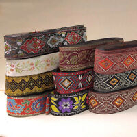 10 Yards Vintage Floral Lace Crochet Fringe Jacquard Ribbon Braid Trim Crafts