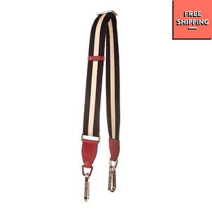 EMPORIO ARMANI Woven Bag Shoulder Strap Striped Contrast Leather Clasp Closure