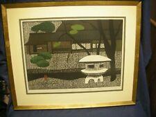 """Kiyoshi Saito 38/100 Japanese Woodblock Print """"Katura Kyoto"""" Excellent! RARE"""