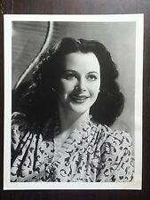 "Hedy Lamar Black & White Photograph Vintage Movie Still 14 X 11"" Rare Size"