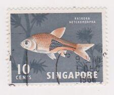 (K65-251) 1962 Singapore 10c Harlequin fish (E)