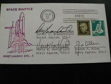 STS 1 launch orig.signiert Cap Com Team, SPACE
