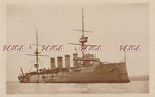 "Royal Navy Real Photo RPPC. HMS ""Antrim"" Armoured Cruiser. Training Ship. c 1905"