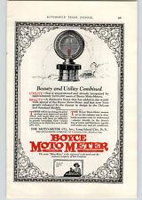 1926 Paper Ad COLOR Boyce Moto Meter Long Island City NY