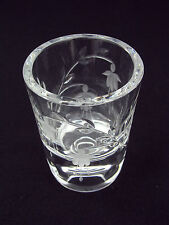 STUART CRYSTAL  CASCADE FUCHSIA - VOTIVE / CANDLE HOLDER - SIGNED SEAN O'DONNELL