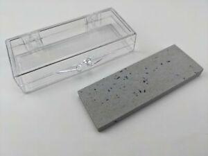 Arkansas Small Knife Sharpening Whetstone Sharpener Stone + Plastic Storage Box