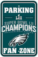 Philadelphia Eagles - 2018 Super Bowl Champs Parking Sign  Official NFL Item