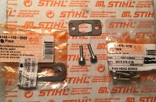 Stihl Exhaust Gasket (1) and screws (2) bg55,bg85,bg45,bg65,sh85,sh55 NEW OEM