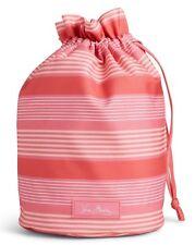 Vera Bradley Lighten Up Ditty Cosmetic Travel Bag pink tonal stripe  s28-pb16
