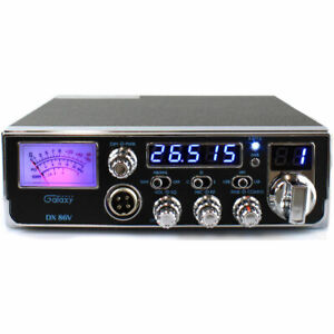 GALAXY DX86V COMPACT 10 METER AMATUER MOBILE RADIO SWR METER W/ SSB & MICROPHONE
