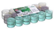 36 Duftteelichter Harmony transparente Hülle Duft Kerzen Acryl Cup Bunt