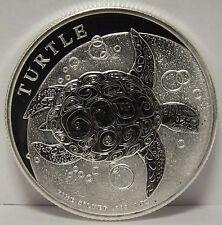 Hawksbill Turtle 2015 Niue .999 Silver $2 Coin 1 oz Troy - Wildlife Animal JR592