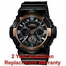 CASIO G-SHOCK MEN WATCH GA-200RG-1A BLACK x ROSE GOLD GA200RG-1ADR 2Y WARRANTY