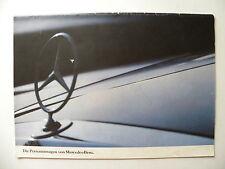 Catalogue / brochure MERCEDES-BENZ die personenwagen von MERCEDES-BENZ