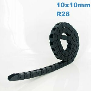 10x10mm R28 Nylon Energy Drag Chain Cable Wire Carrier CNC Router 3D Printer Mil