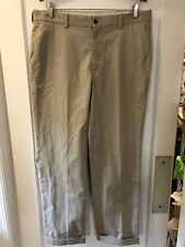 BROOKS BROTHERS Men's Clark Advantage Flat Front Pants Size 35 X 34