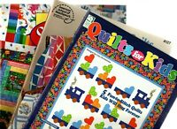 Lot of 3 Colorful Quilting Pattern Books for Kids and Babies
