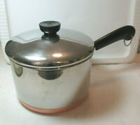Revere Ware *3 QUART (97e) SAUCE PAN & LID*  Copper Bottom Clinton IL USA