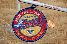 """Anaheim Angels Join the Team Orange County Council 3"""" Logo Patch Baseball"""