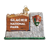 """Glacier National Park"" (36174)X Old World Christmas Glass Ornament w/ OWC Box"