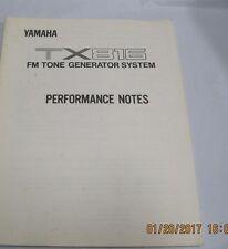 tx816  Yamaha tx 816 fm tone generator system 141 page owners manual yamaha